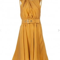 KENZO Belted dress, mustard yellow, fit and flare