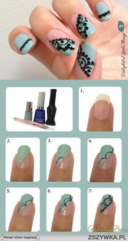 Lace-inspired Nails