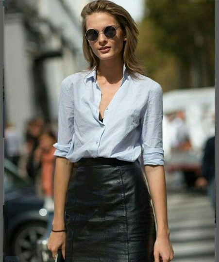 How to wear a knee length leather skirt – Modern skirts blog for you