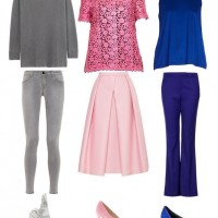 The Fantastic Grey, Pink and Blue Monochromatic Look for 2014
