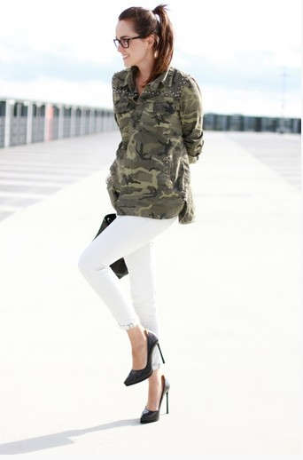 How to wear military trend for spring 2014 pretty designs for Green camo shirt outfit