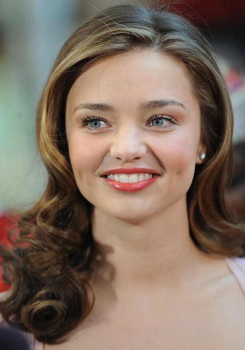 Miranda Kerr Hairstyles Textured Curls Pretty Designs