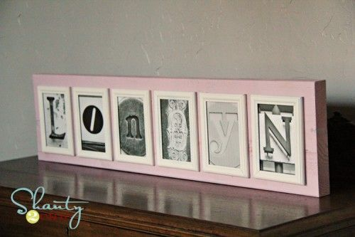 Name Letter Photo Frames