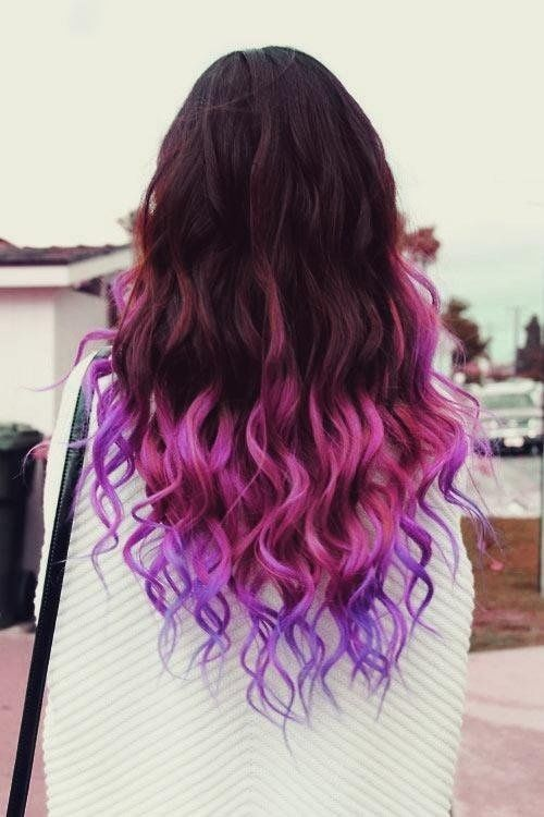 Ombre Hairstyles: Raven to Purple