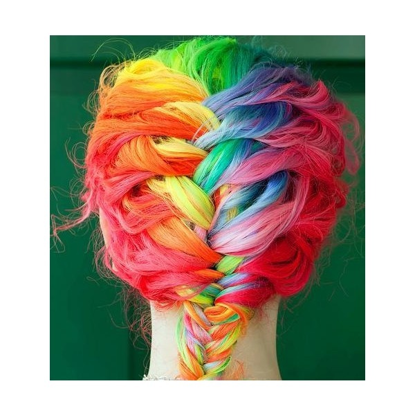 Ombre Hairstyles: Colorful Braids
