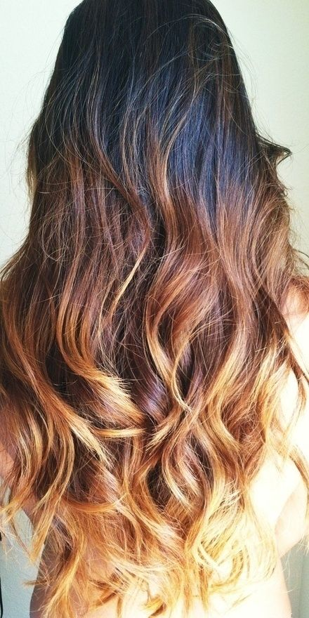 Ombre Hairstyles: Brown to Gold