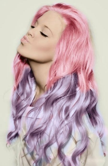 Ombre Hairstyles: Pink to Purple