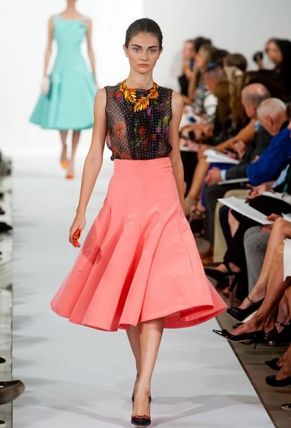 A Collection Of Oscar De La Renta Dresses For Spring