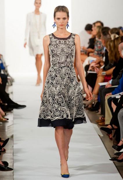 A Collection of Oscar De La Renta Dresses for Spring/Summer 2014 ...