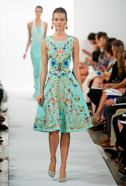 a collection of oscar de la renta dresses for spring