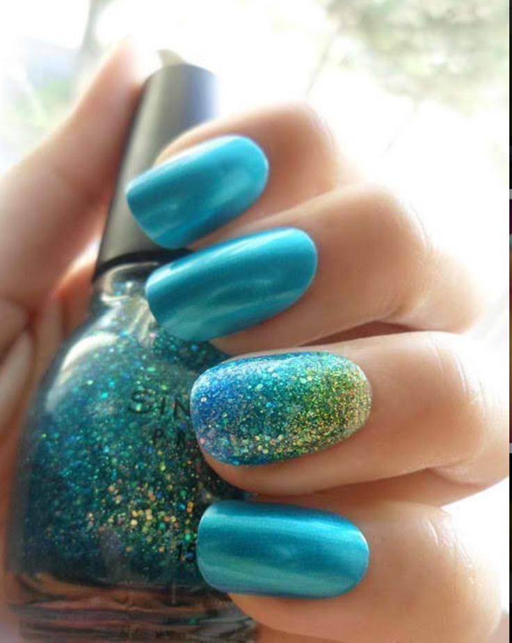 17 Gorgeous Blue Nails Art - Pretty Designs