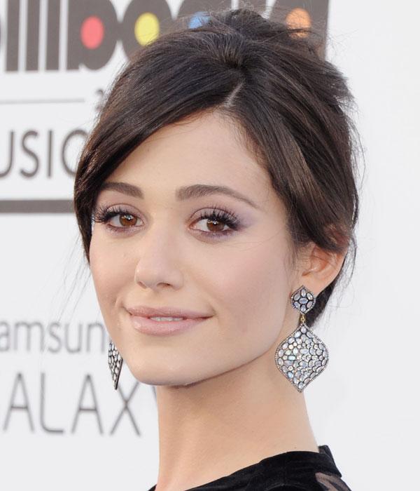 Purple Eye Makeup Looks: Emmy Rossum