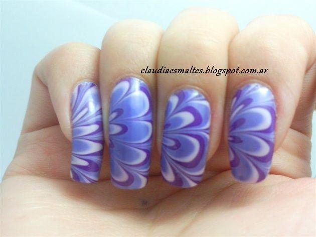 Purple Water Marble