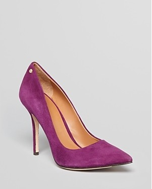 Rachel Roy Pointed Toe Purple Pumps for jewel-tone spring outfit ideas