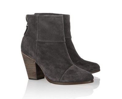 Rag & bone Classic Newbury suede ankle boots, gray
