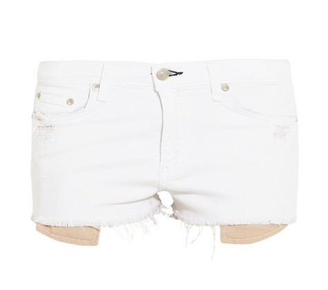 Rag & bone The Mila mid-rise cut-off twill shorts, white