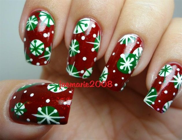 17 Snowflake Nail Tutorials , Pretty Designs