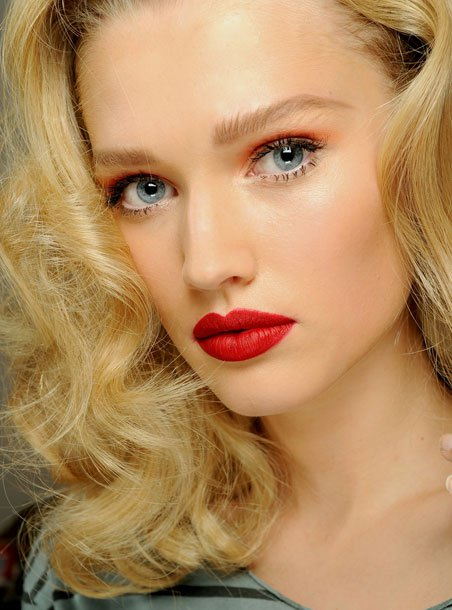 Pretty Red Lip Makeup