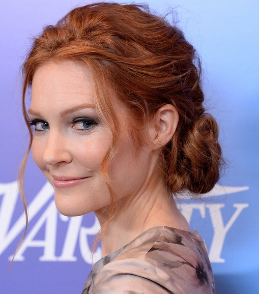 Romantic Lower Updo Hairstyles for Every Occasion: Darby Stanchfield Twisted Bun