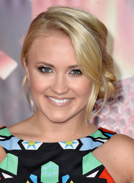 Romantic Lower Updo Hairstyles for Every Occasion: Emily Osment Pinned Up Ringlets