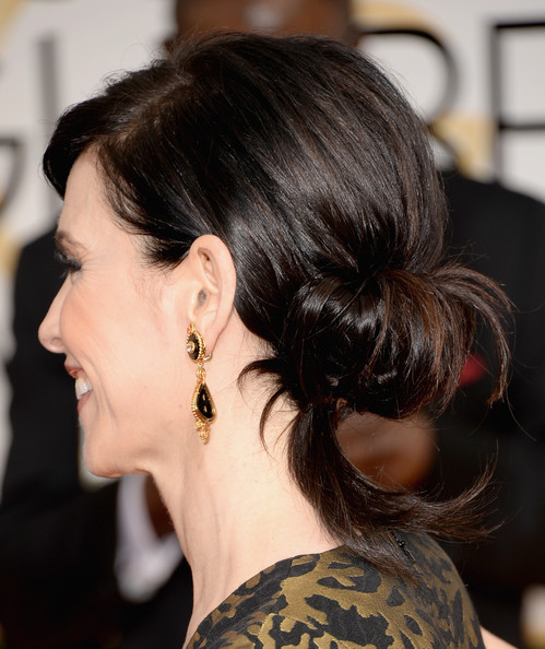 Romantic Lower Updo Hairstyles for Every Occasion: Julianna Margulies Chignon