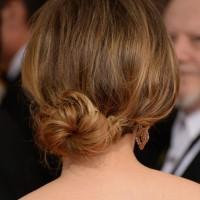 Romantic Lower Updo Hairstyles for Every Occasion: Julie Delpy Loose Bun