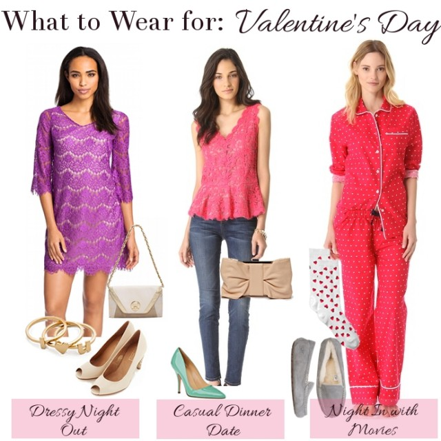 Romantic Outfits Combinations for Valentine's Day
