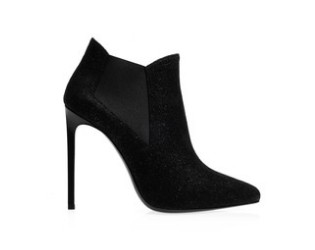 SAINT LAURENT Paris high-heeled ankle boots, black