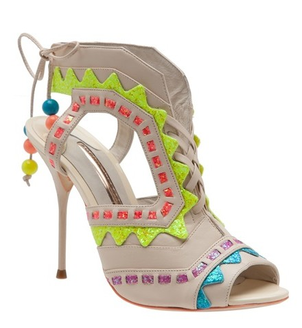 SOPHIA WEBSTER 'Rick Rack' cutout bootie, multicolor