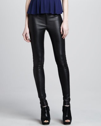 Alice + Olivia Leather Leggings, black-Schoolboy Styling Trick for Spring 2014