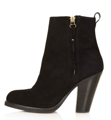 Topshop ANGEL Western Ankle Boots, black-Schoolboy Styling Trick for Spring 2014