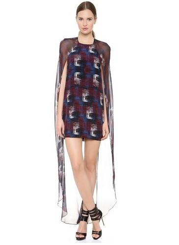 Shop The Golden Globe Style – Jenni Kayne Multi Colored Print Cape Dress
