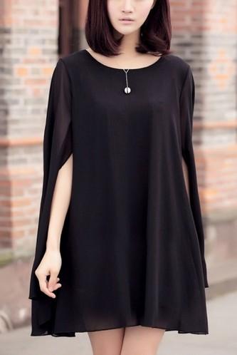 Shop The Golden Globe Style – Oasap Swing Cape Dress, black