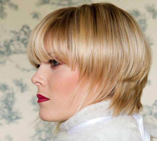 Short Straight Haircut for Blonde Hair