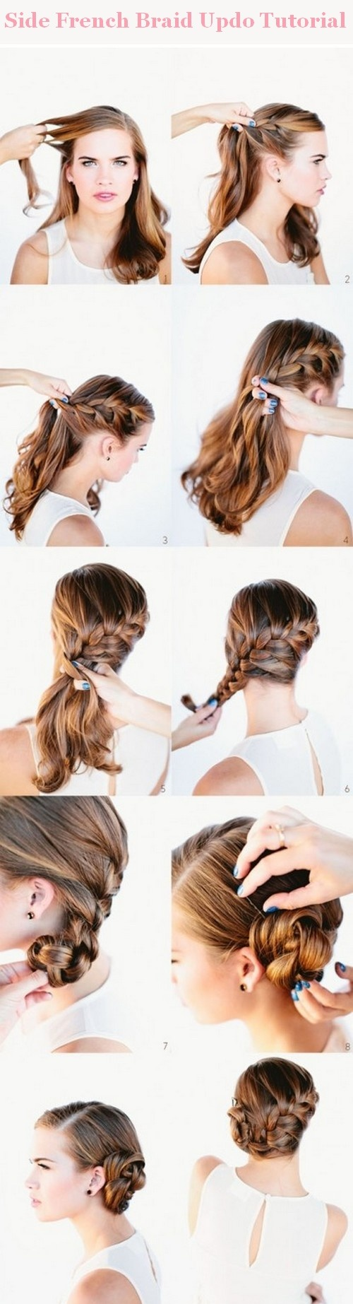 How to bun hairstyles step by step - Side Bun