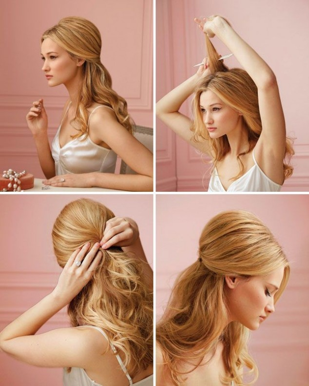 Half Up Straight Hairstyles For Weddings: 15 Stylish Half Up Half Down Tutorials