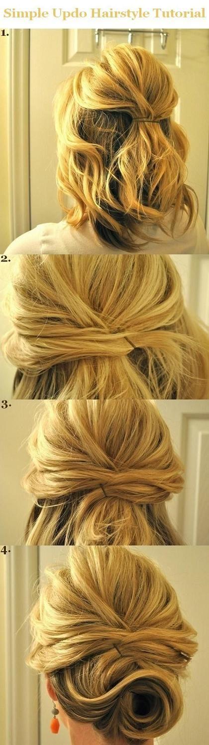 Simple Pinned up Hair