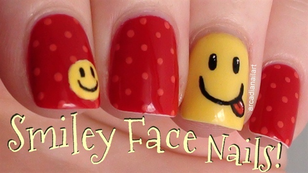 Smiley Face Nail
