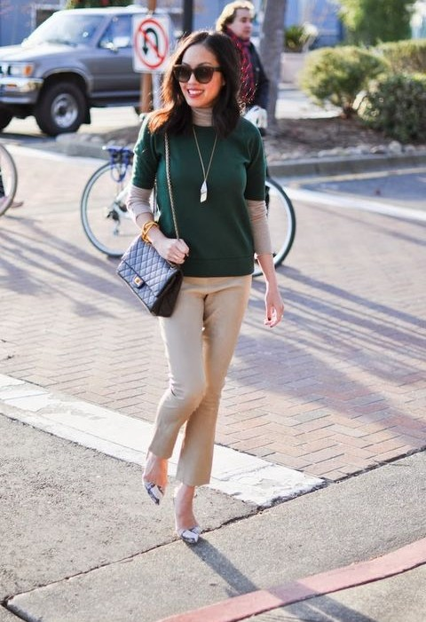 Spring 2014 Fashion Trends: Fresh Stylish Color Combination Of Camel And  Forest Green