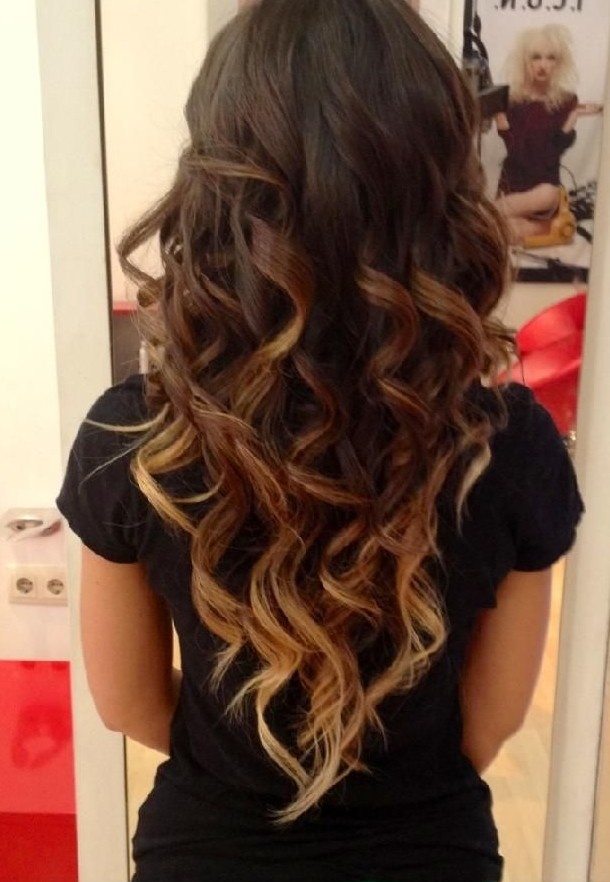 Spring Ombre Hair with Big Curls