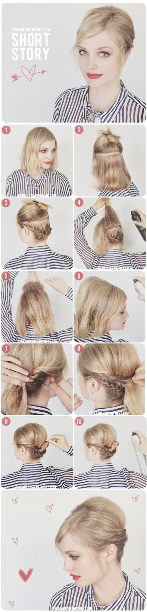 15 Sassy Hairstyle Tutorials for Short or Medium Hair Pretty Designs