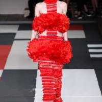 Wearing the Trendy Red: Alexander McQueen