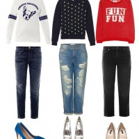 Sweatshirts + Boyfriend Jeans Outfits Trend for Spring 2014