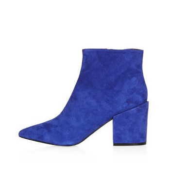 TOPSHOP ABA Pointed Ankle Boots,royal blue