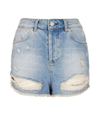 TOPSHOP MOTO Bleach Rip Hotpants, shorts