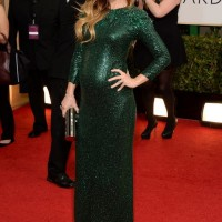 The Glamorous Golden Globe Style - Olivia Wilde Sylphlike emerald green gown by Gucci