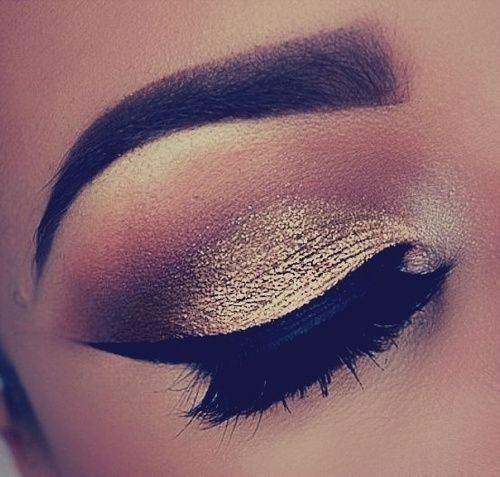 Trendy Gold Eyes Makeup Ideas for 2014