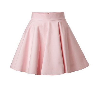 VALENTINO R.E.D. Stretch Cotton Circle Skirt, flared mini dress, pale pink