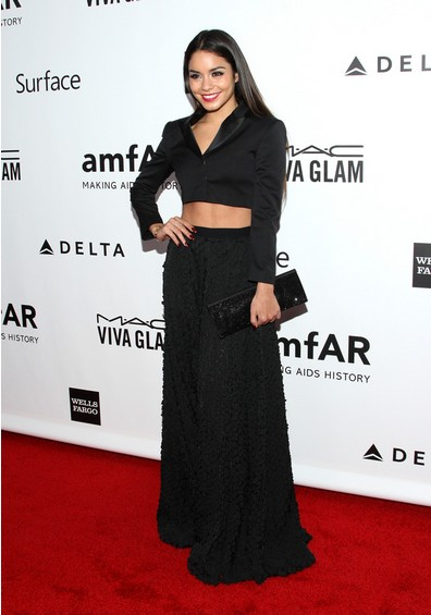 Vanessa Hudgens Shows Us an Elegant Way to Wear a Black Crop Top