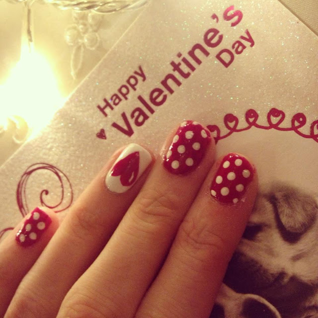 White Dots and Red Heart
